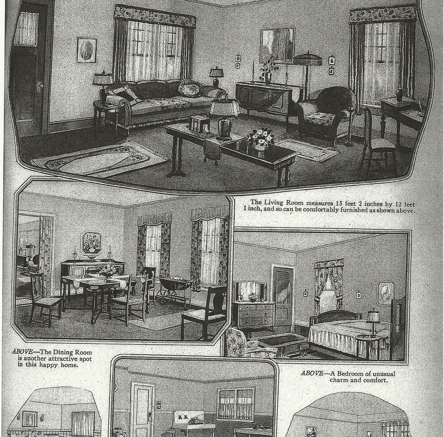 Sears Catalog house Interior