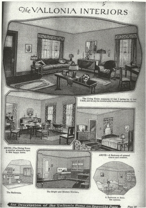 Sears Catalog house Interior