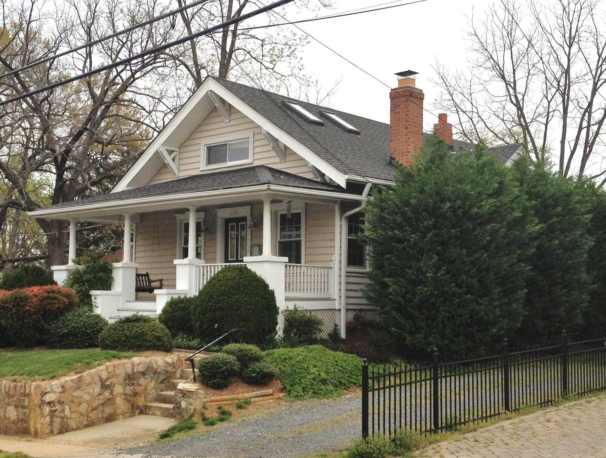 A sears winona kit house and a gallon of blood dc for Craftsman style homes for sale in maryland