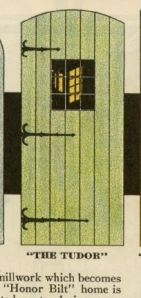 """Tudor"" door model from 1930 Sears catalog"