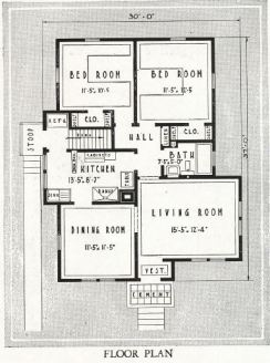 1930 Sears kit house -- floor plan